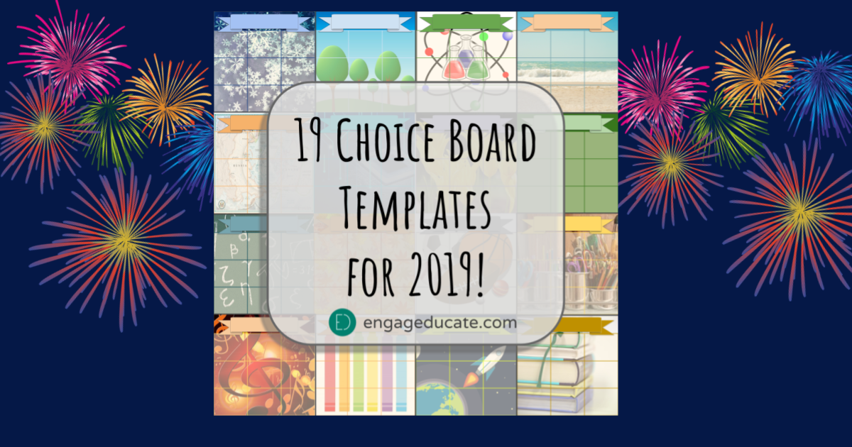 19 Choice Board Templates For 2019 Engageducate